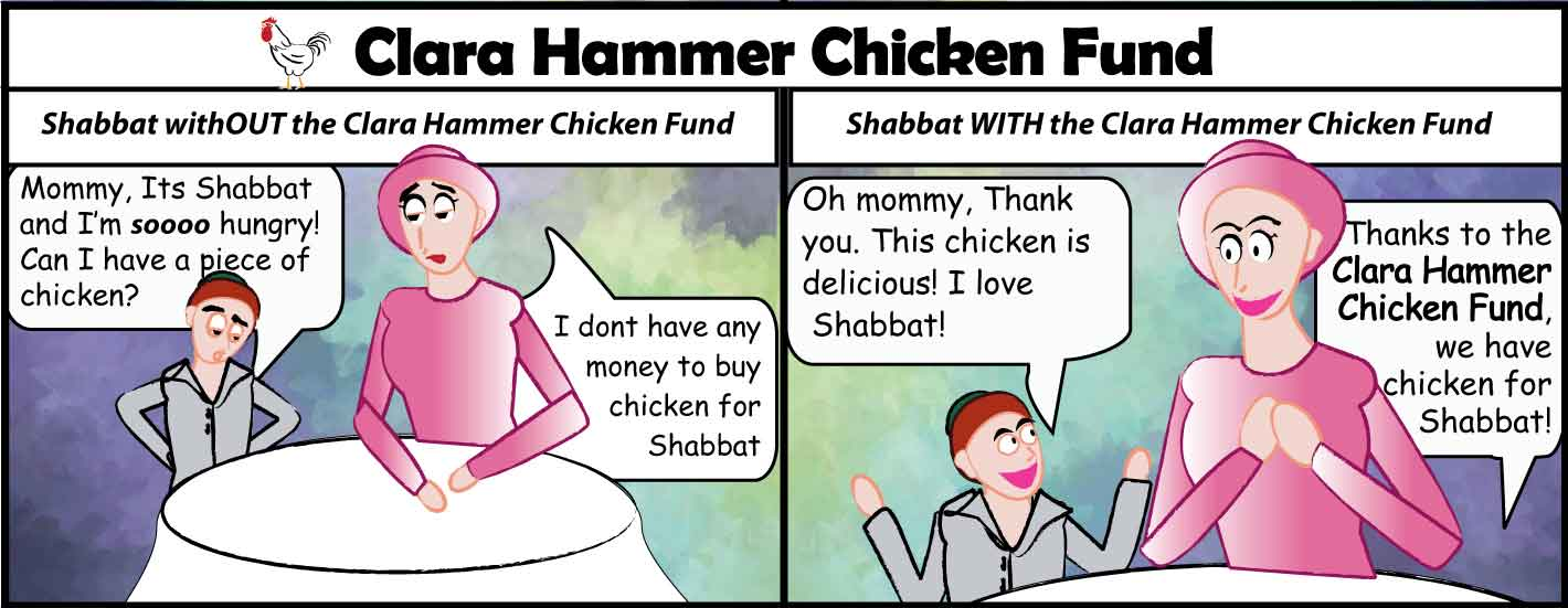 Thanks to the supporters of the Clara Hammer Chicken fund, families have chicken for Shabbat