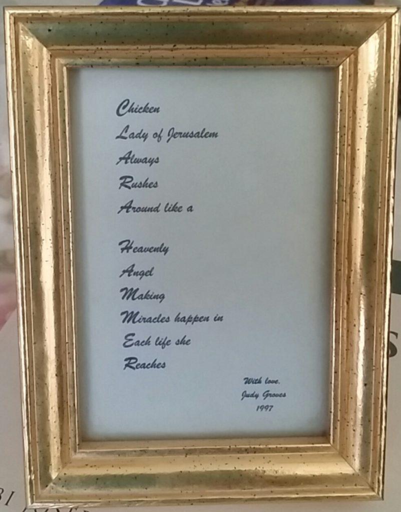 framed acrostic